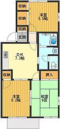 シャトレーサチ[1階]の間取り