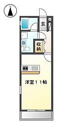 NEST黒川[3階]の間取り
