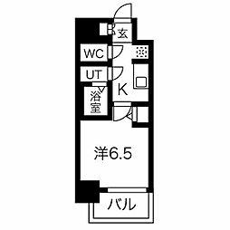 名古屋市営東山線 今池駅 徒歩6分の賃貸マンション 14階1Kの間取り