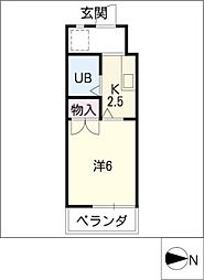 クレストステージ平安[2階]の間取り