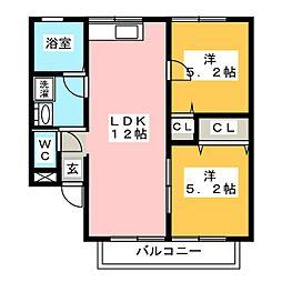 レトア・ソレイユ[2階]の間取り