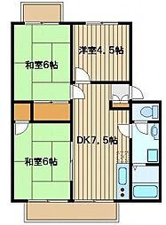 サンビレッジアサノ[3階]の間取り