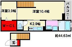 福岡県福岡市南区警弥郷2丁目の賃貸マンションの間取り