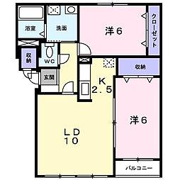 北海道札幌市北区屯田十条2丁目の賃貸アパートの間取り
