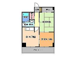 栃木県宇都宮市宿郷3丁目の賃貸マンションの間取り