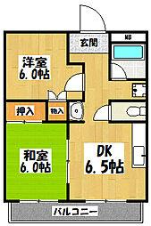 大阪府大阪市城東区古市2丁目の賃貸マンションの間取り