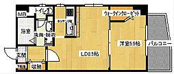 広島県広島市南区西蟹屋1丁目の賃貸マンションの間取り