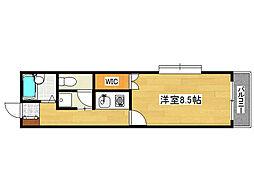 兵庫県神戸市灘区永手町2丁目の賃貸マンションの間取り