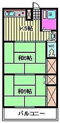 福田コーポ[101号室]の間取り