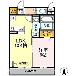 仮)D-room殿町[1階]の間取り