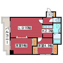 パルコートDEN[7階]の間取り