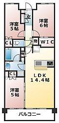 ジオ津田沼奏の杜[2階]の間取り