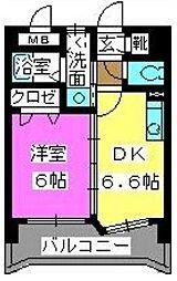 メルベーユ博多[4階]の間取り