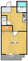 Osaka Metro谷町線 守口駅 徒歩1分の賃貸マンション 4階1Kの間取り