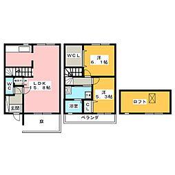 [テラスハウス] 愛知県刈谷市日高町2丁目 の賃貸【愛知県 / 刈谷市】の間取り