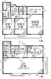 京急本線 屏風浦駅 徒歩10分の賃貸一戸建て 1階3LDKの間取り