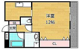 清水谷コーポ[5階]の間取り
