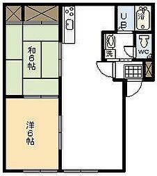 シャトル木花台E棟[E101号室]の間取り