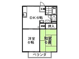 松栄ハイツA棟[202号室]の間取り