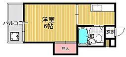 プレアール七隈[206号室]の間取り