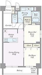 築地MKハウス[0403号室]の間取り