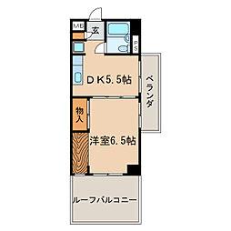 高岳レジデンス[2階]の間取り