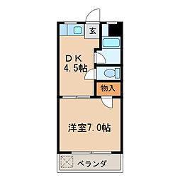 七福マンション[1階]の間取り
