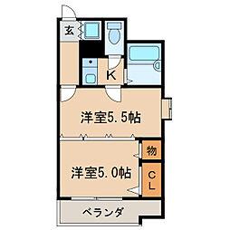 エスト葵南マンション[2階]の間取り