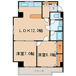ガーデンコート新栄[6階]の間取り