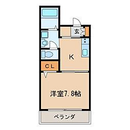 エスタシオン新栄[6階]の間取り