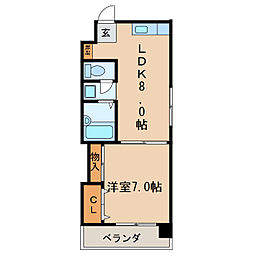 シティライフ栄[2階]の間取り