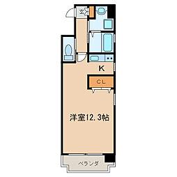 エターナル栄[4階]の間取り