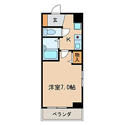 イヅミマンション[7階]の間取り