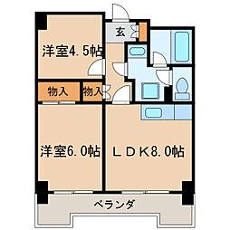 第13オーシャンビル[6階]の間取り