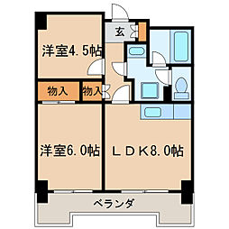 第13オーシャンビル[11階]の間取り