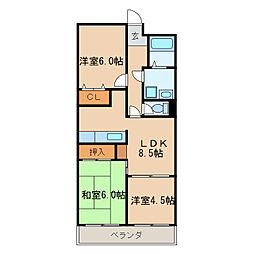 スイートプラザ白壁[2階]の間取り
