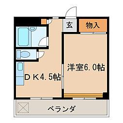 ハイム福島[4階]の間取り