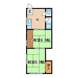 万津元ビル[3階]の間取り