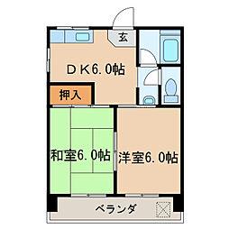 栄サンライズ[7階]の間取り