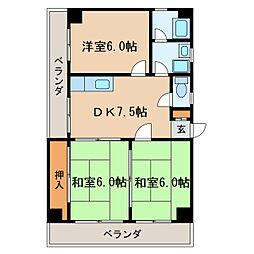 第二福富ビル[4階]の間取り