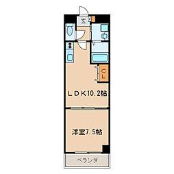 マルティーノ新栄[6階]の間取り