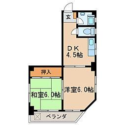 コーポマロミ[4階]の間取り