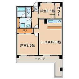 東桜スカイハイツ[5階]の間取り