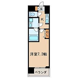 プライムアーバン泉[12階]の間取り