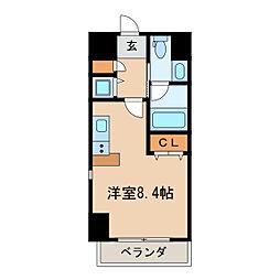 レジディア栄[7階]の間取り