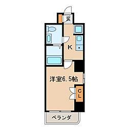 ヴィアーレ・バグース[8階]の間取り