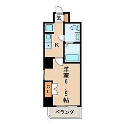 ヴィアーレ・バグース[9階]の間取り