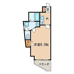 スカイコート葵[7階]の間取り