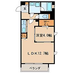 Urban Cloud Izumi[4階]の間取り