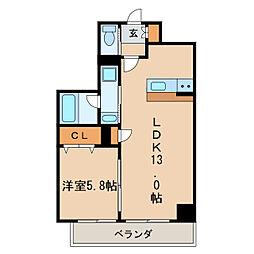 Urban Cloud Izumi[6階]の間取り